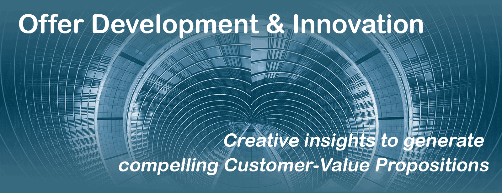 Offer Development & Innovation - Creative insights to generate compelling Customer Value propositions